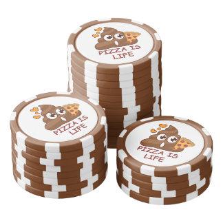 Pizza Poop Life Poker Chips