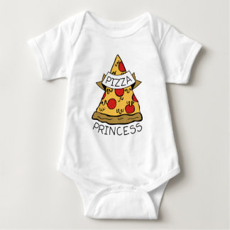 Pizza Princess Baby Bodysuit