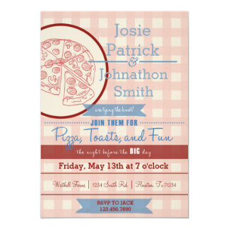 Pizza Rehearsal Dinner Invitation