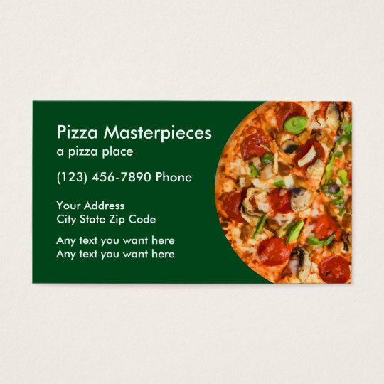 pizza restaurant coupon business card zazzle. Black Bedroom Furniture Sets. Home Design Ideas