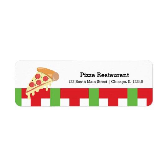Pizza restaurant return address label