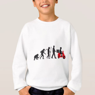Pizza service delivery service more scooter sweatshirt