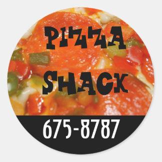 Pizza Shack Round Sticker