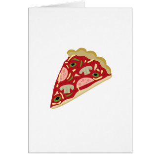 Pizza slice card