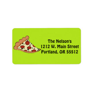 Pizza slice custom labels