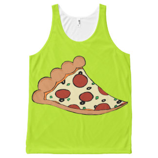 Pizza slice design tank top All-Over print tank top