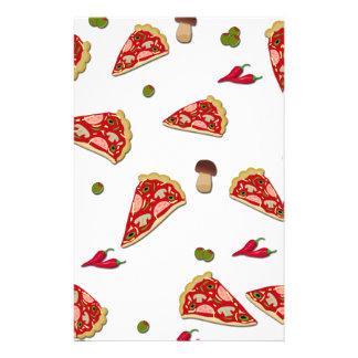 Pizza slice pattern customised stationery