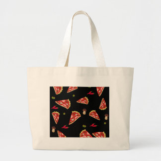 Pizza slice pattern large tote bag