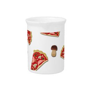 Pizza slice pattern pitcher