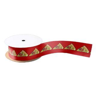 Pizza slice satin ribbon