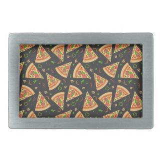 Pizza slices background belt buckles