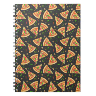 Pizza slices background notebook