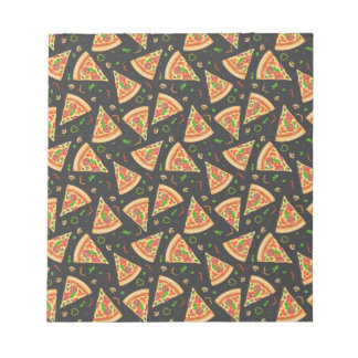 Pizza slices background notepads