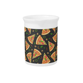 Pizza slices background pitcher