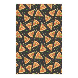 Pizza slices background stationery