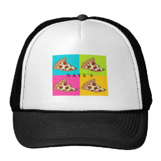 Pizza slices tiled design cap