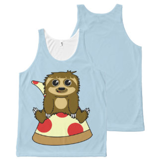 Pizza Sloth All-Over Print Singlet