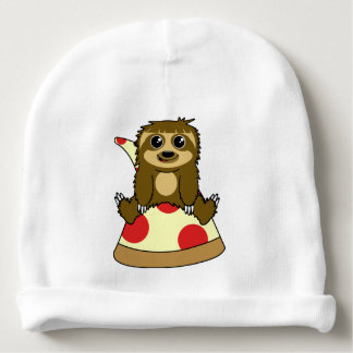 Pizza Sloth Baby Beanie