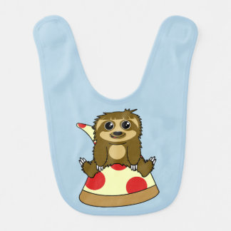 Pizza Sloth Bib