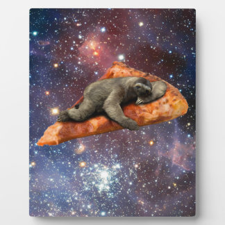 Pizza Sloth In Space Plaque