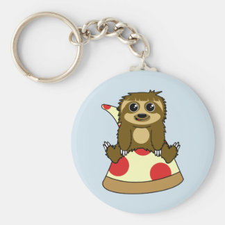 Pizza Sloth Key Ring