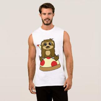 Pizza Sloth Sleeveless Shirt