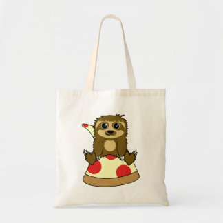 Pizza Sloth Tote Bag
