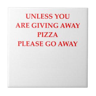 pizza small square tile