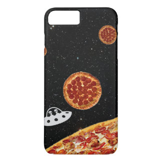 Pizza Solar System Hipster in Galaxy Space iPhone 7 Plus Case