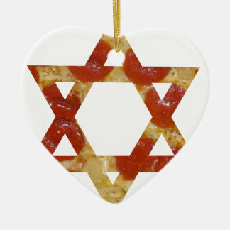 pizza star of david ceramic ornament