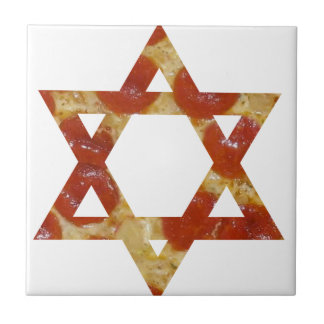 pizza star of david ceramic tile