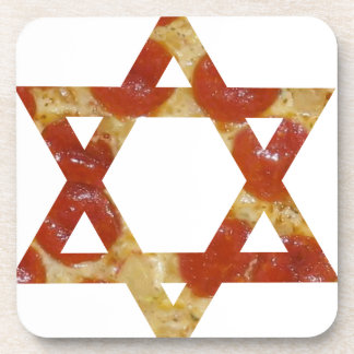 pizza star of david coaster