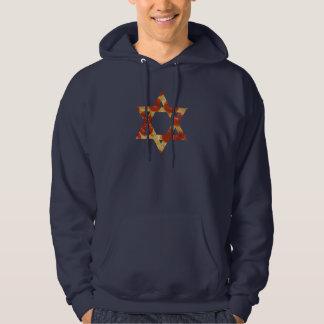 pizza star of david hoodie