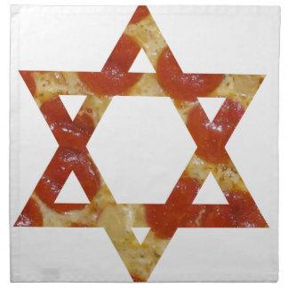 pizza star of david napkin
