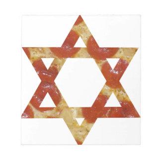pizza star of david notepad