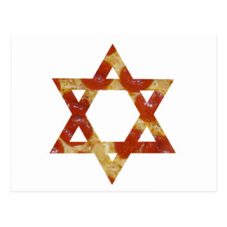 pizza star of david postcard