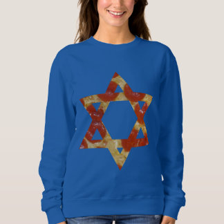 pizza star of david sweatshirt