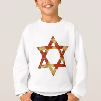 pizza star of david sweatshirt