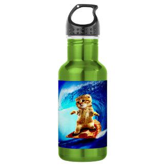 Pizza Surfing Cat 532 Ml Water Bottle