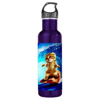 Pizza Surfing Cat 710 Ml Water Bottle