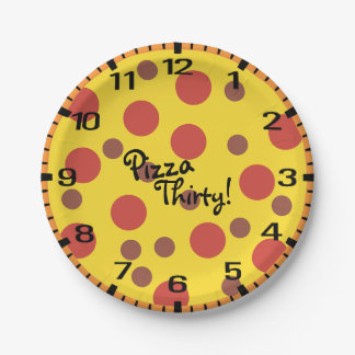 Pizza Thirty! Paper Plate