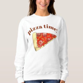 Pizza Time Pepperoni Cheese New York Slice Foodie Sweatshirt