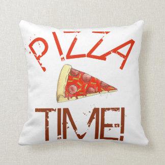 Pizza Time Pepperoni NYC Cheese Slice Italian Food Cushion