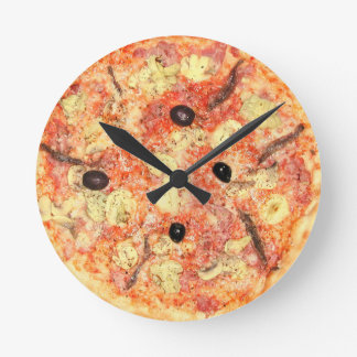 Pizza Time Round Clock