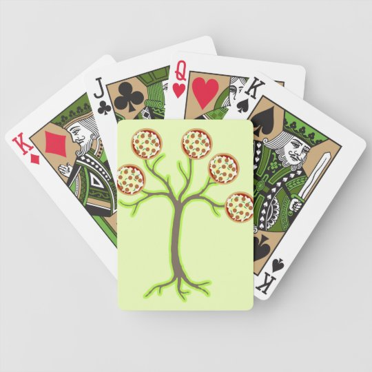 pizza tree bicycle playing cards