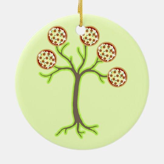 pizza tree ceramic ornament