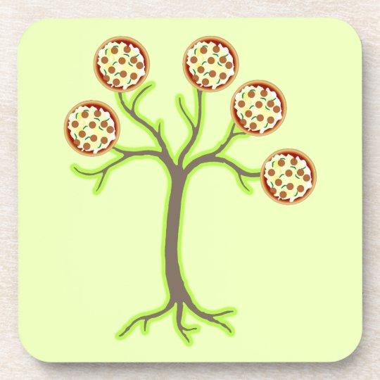 pizza tree coaster