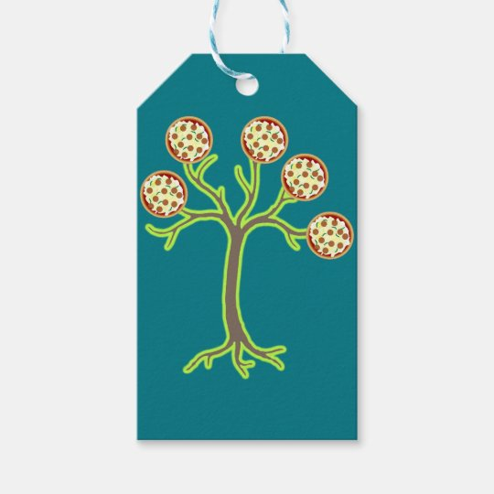 pizza tree gift tags