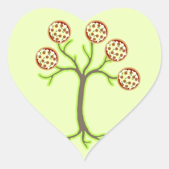 pizza tree heart sticker