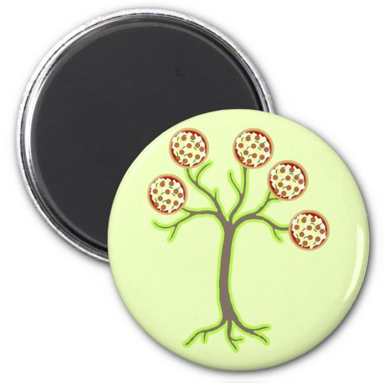pizza tree magnet